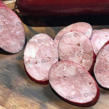 Колбаса п/к Феремок «Рубленная Люкс». Говядина + свинина. Без жил, шкур и хрящей.
