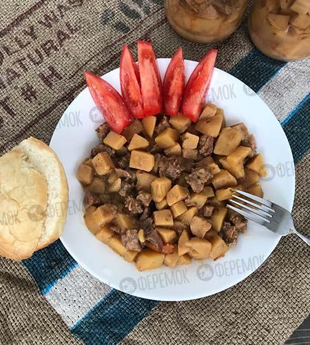 Тушеная картошка с говядиной. Вкусный обед или ужин за 5 минут!